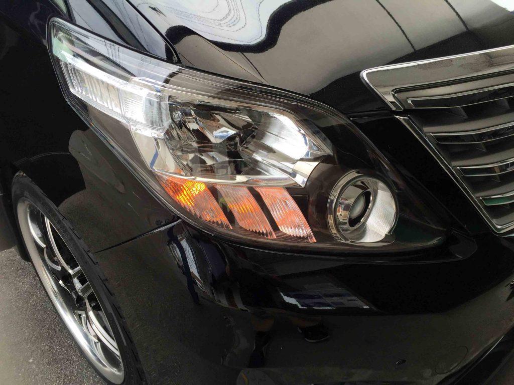 トヨタ20系アルファードに取り付けたLEDウインカーバルブ点灯時