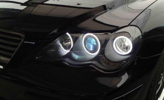 トヨタマークXのLoビームをHID化(助手席側)