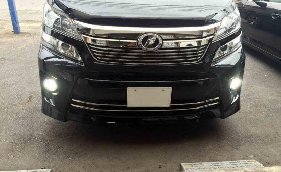 トヨタ20系ベルファイアへ取り付けた3000lmのLEDランプは非常に明るく視認性もアップ