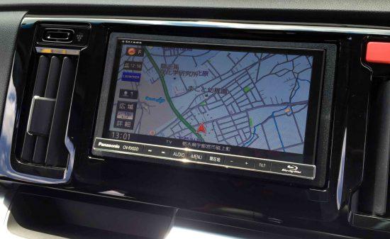 ホンダN-WGNへ取り付けたCN-RX02Dのナビ画面