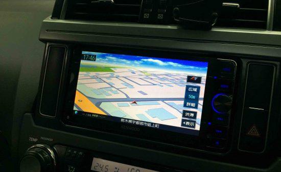 トヨタ150系ランドクルーザープラドへ取り付けたMDV-Z702Wナビ
