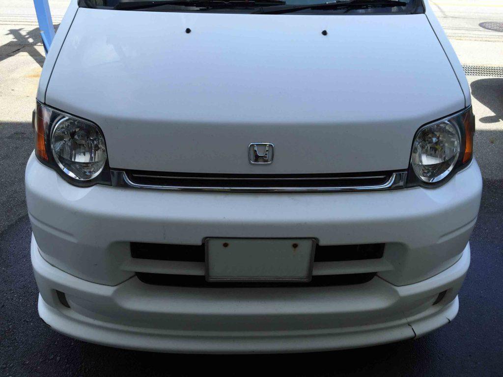 ホンダS-MXのヘッドライトリフレッシュ後はクリアーな本来のヘッドライトに復活