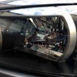 日産R34スカイラインGT-Rのヘッドライトリフレッシュ後、ヘッドライト内部がはっきりと見える様になりました