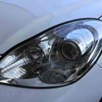 レクサスSC430のヘッドライトレンズがクリアーな状態に戻り、黄ばみも除去されました。