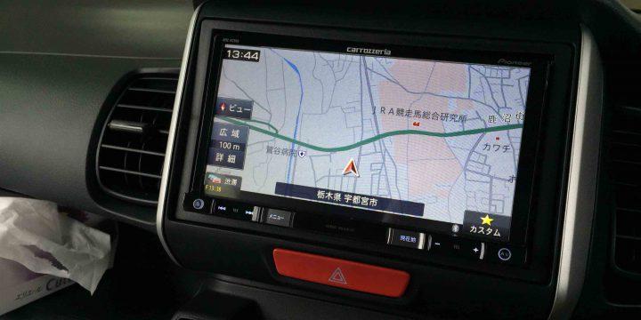 ホンダN-BOXへ持ち込み品のカロッツェリアAVIC-RZ900のナビ映像。
