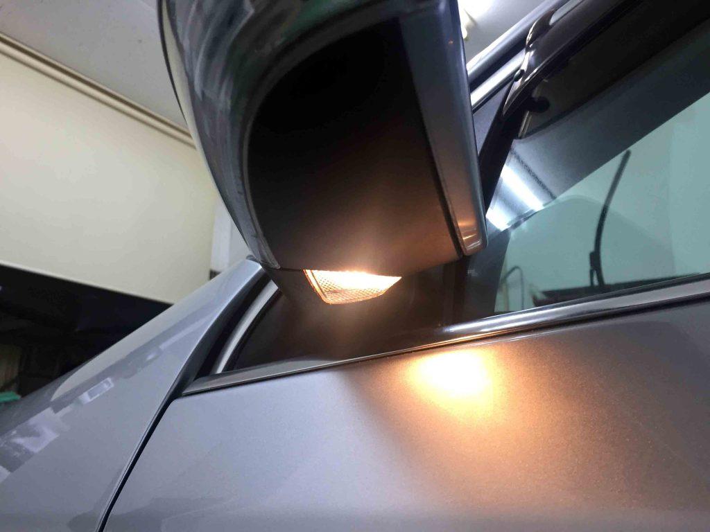 VWフォルクスワーゲンジェッタのウェルカムランプ(純正電球点灯時)