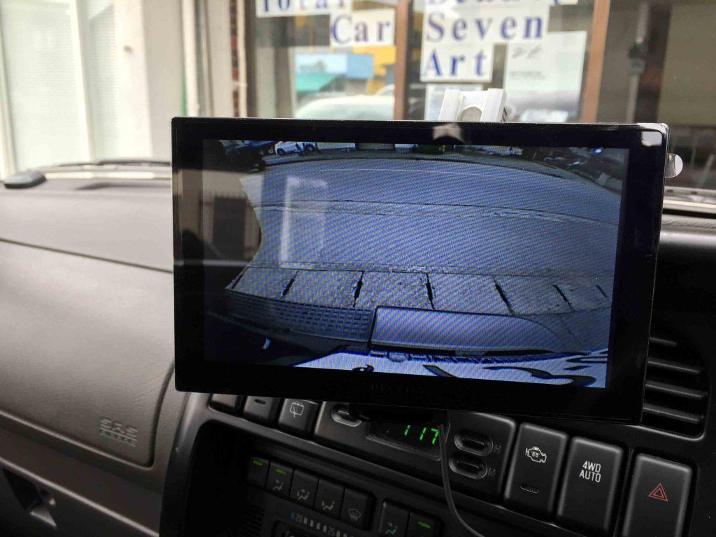 ホンダホライゾンへ取り付けたバックカメラの映像。