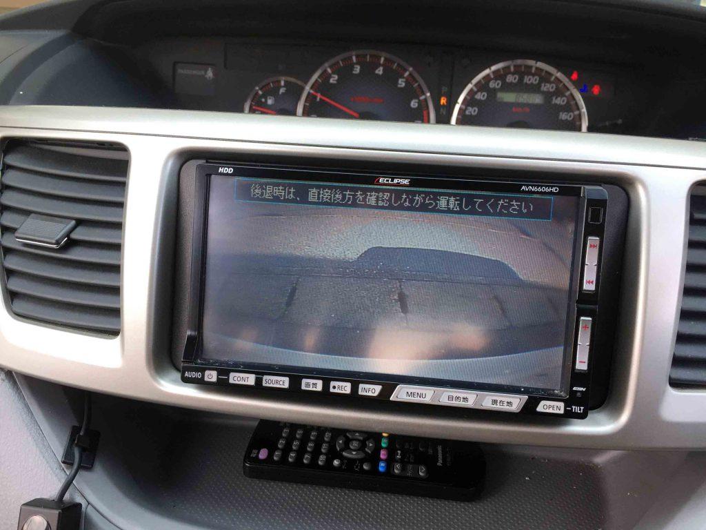 トヨタ60系ノアへイクリプスナビを取り付け、純正バックカメラを接続しました。