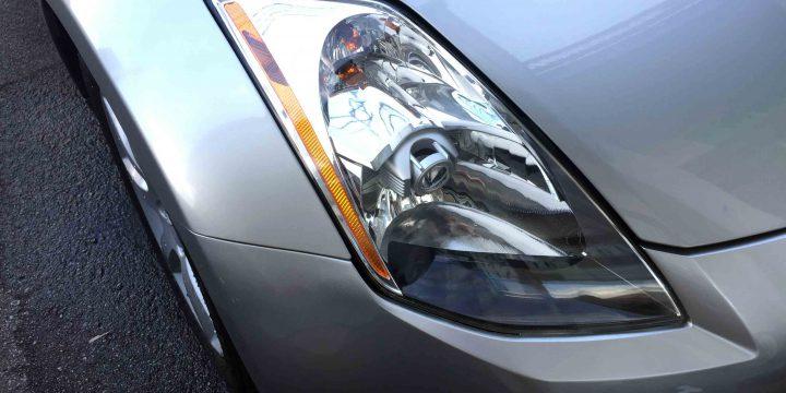 日産フェアレディZ-Z33系の劣化し黄ばんだヘッドライトリフレッシュ後