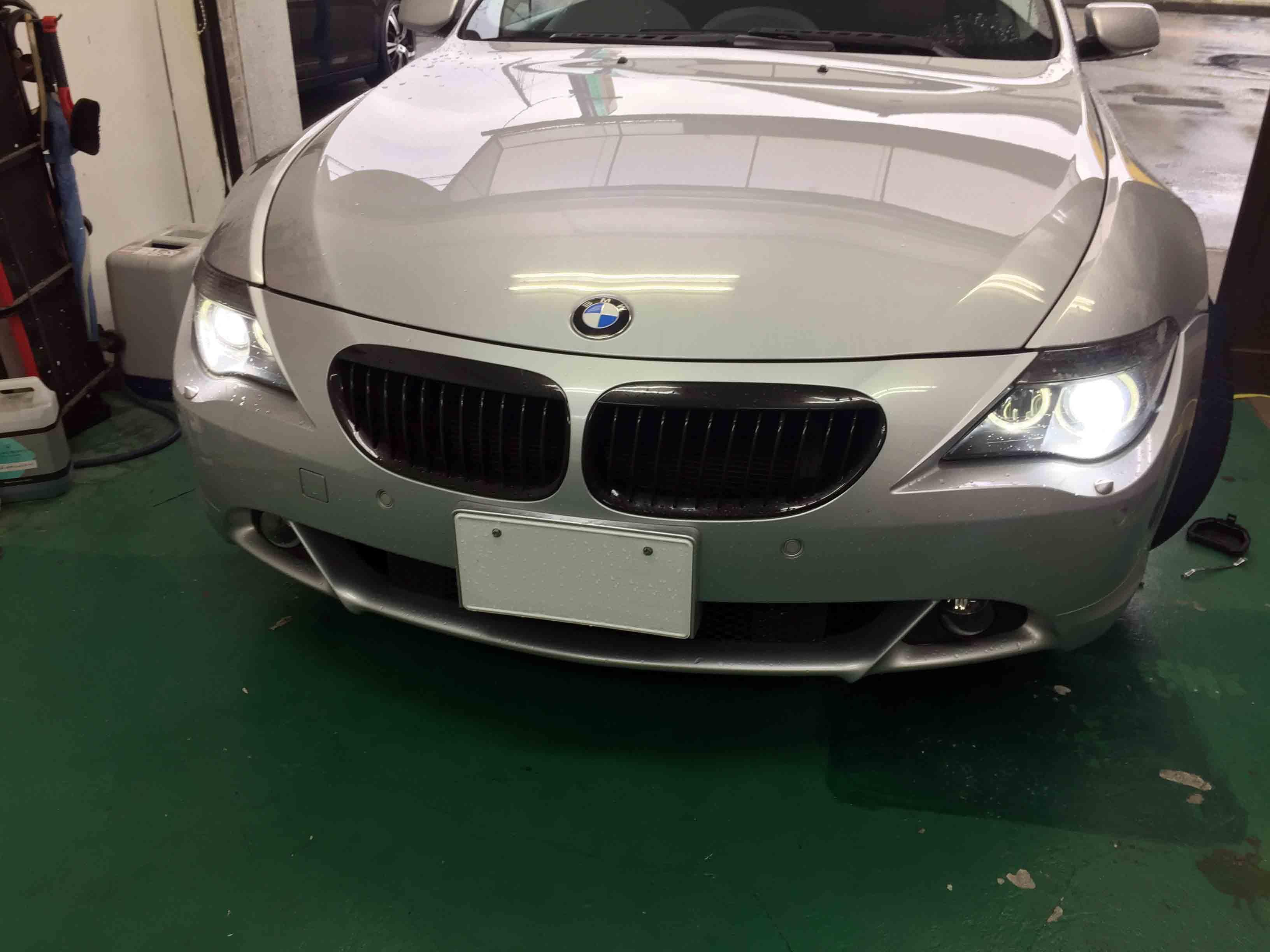 BMW6シリーズE63のヘッドライトバーナーを6000Kへ交換