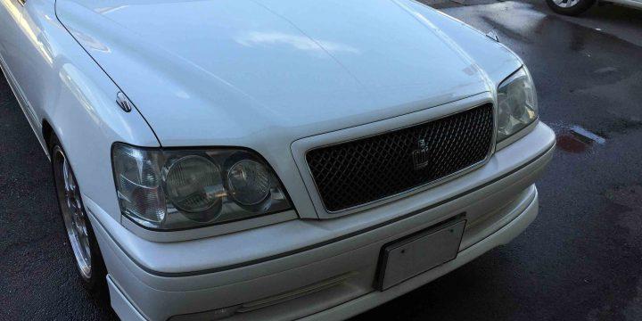 トヨタ17系クラウンのヘッドライトの黄ばみが無くなり見た目の印象も変わりました。