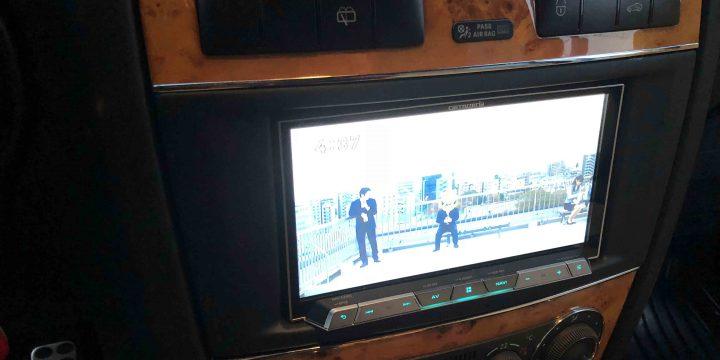 メルセデスベンツGクラス(ゲレンデ)サイバーナビを取り付け地デジ映像を確認