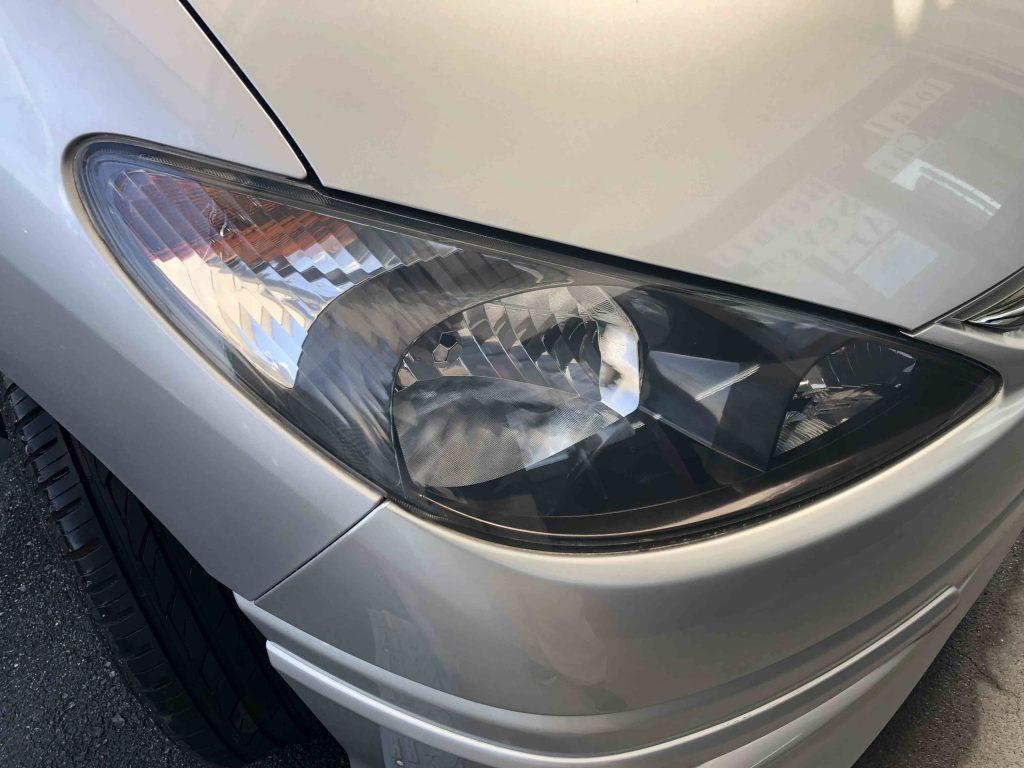 トヨタエスティマのヘッドライトの黄ばみやくすみも無くなりました