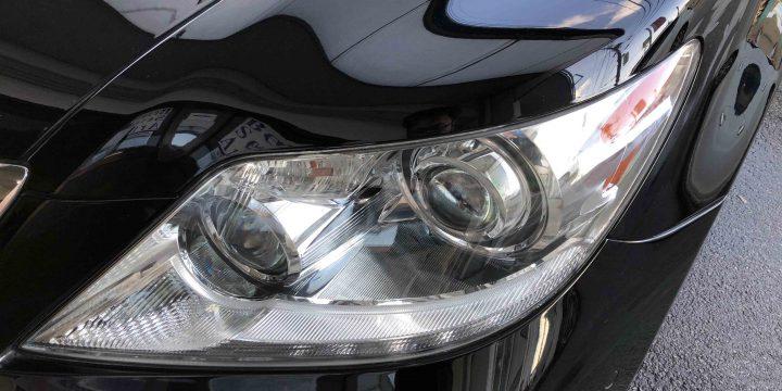 レクサスLSのヘッドライトをリフレッシュし透明感もアップ致しました